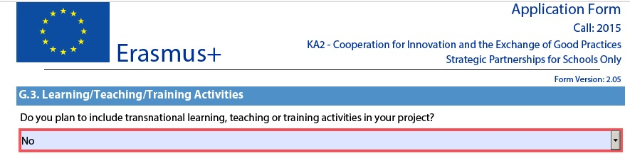 Important notes for learningteachingtraining activities erasmus first of all in the form open part g you will see this part as in the picture below yadclub Image collections